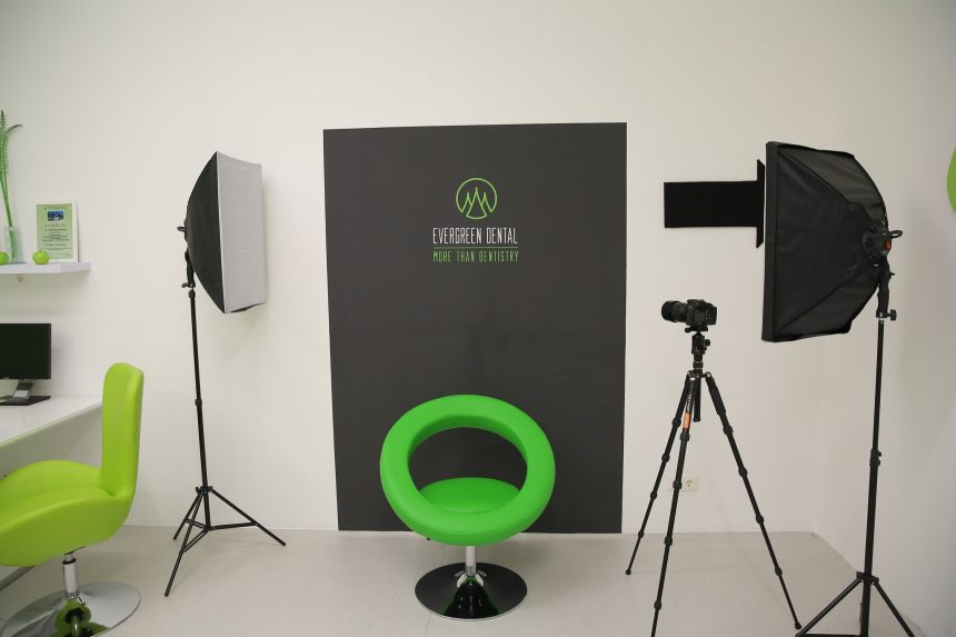 Das Fotostudio von Evergreen Dental