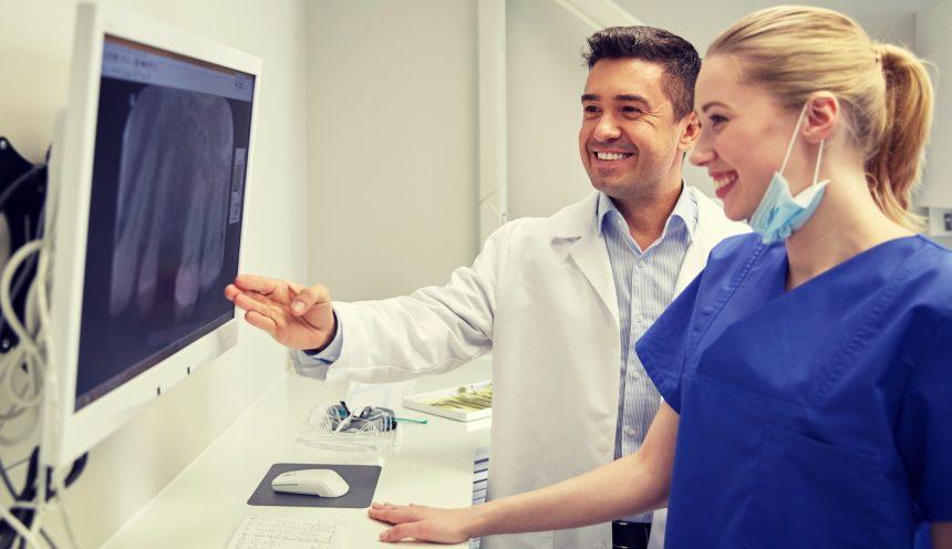 Auswertung einer Röntgenaufnahme